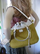 Authentic  FENDI B FAB Water Snake Skin & Jute! $2549 RTL - Sold out!!