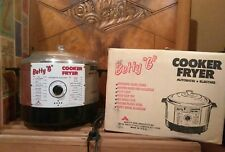 "Vintage Betty ""G"" Deep Fryer Cooker Automatic Chrome Retro Mid-Century Modern"