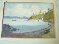JOHN WILLSON WATERCOLOR LAKE OF BAYS MUSKOLEA CANADA