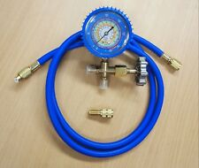 R134a R404a R22 R410a Single Manifold Gauge Hose Air Condition Charging Testing