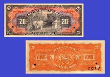 Panama banknotes 20 Balboas 1941. UNC - Reproductions