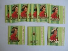 Lot of 10 Old Vintage DANTE Cigarillos - Tobacco BOXES / Package Sleeve - GREEN