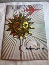 AeroFlot 1971 USSR Airlines Promotional Magazine  N