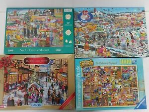 1000 Piece Puzzles x4 Gibsons Ravensburger Festive Christmas Winter Unchecked F3