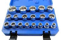 "BERGEN Tools 19pc 1/2"" dr Gear Lock Sockets, Socket Set 8-32mm NEW 1231"