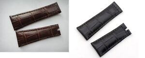 20MM X16MM genuine leather strap band bracelet (FITS) Rolex Datejust