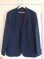Jaeger Blue Wool & Mohair Suit Jacket Size 46 Regular