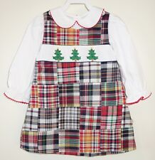 New Lolly Wolly Doodle Smocked Holiday Dress & Matching Top Girl's Sz 4