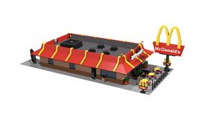 Lego Custom  McDonald's City Restaurant Instruction(instruction only)