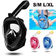 Snorkel Mask Diving Goggle Scuba Full Face Anti-Fog Wide View Swim S-XL US STOCK