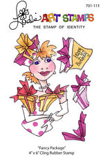 """Loralie Art Stamp - 701111 Fancy Package Birthday - 4"""" x 6"""" Cling Rubber Sheet"""