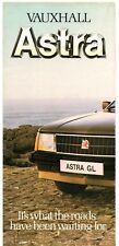 Vauxhall Astra 1980 UK Market Launch Foldout Brochure GL Hatchback L Estate
