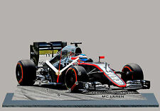 MODEL CARS, FORMULA ONE, F1, FERNANDO ALONSO, MCLAREN with Clock