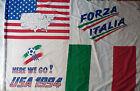 BANDIERA FORZA ITALIA USA 1994 VINTAGE FLAG CALCIO SOCCER WORLD CUP ITALY shirt