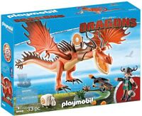 Playmobil Dragons How to Train Your Dragon Snotlout and Hookfang Set #9459