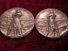 Replica WW1 Belgian Yser Plaque Carte du Feu Vuurkart French & Flemish 2 Plaques