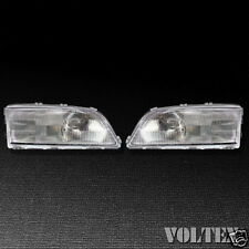 1998-2002 Volvo C70 S70 V70 Headlight Lamp Set of 2 Clear lens Halogen