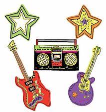 Rock & Roll Art Deco Guitars Stars Stickers 25 Wallies Decal Cool Border Sticker