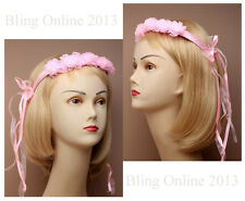 FUN PINK BRIDES BRIDAL HEADBAND HEAD BAND NET LACE HEADDRESS HEN NIGHT PARTY