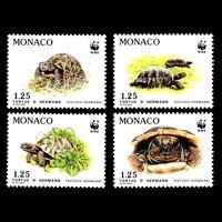 "Monaco 1991 - Endangered Species ""Hermann's Tortoise"" Fauna - Sc 1778/81 MNH"