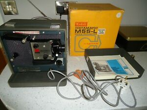 Super 8 Movie Projector Vintage KODAK Instamatic M55-L Cased and Boxed WORKING
