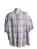 Tommy Bahama Relax Mens Short Sleeve Button Front Shirt Size 2XB 100% Linen