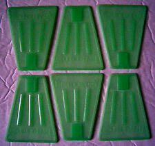 Plastic Tinker Toys Part Lot: 6 Glow-In-The-Dark Flags Green Fin Piece Tinkertoy