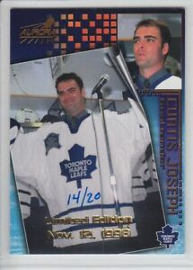 1998-99 PACIFIC AURORA CURTIS JOSEPH /20 LIMITED EDITION PARALLEL #182 Leafs