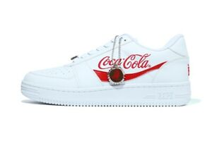 25660 bape coca cola bapesta low white US7