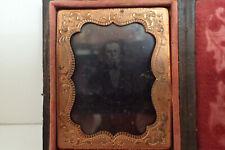 1850's Daguerreotype Photo of Man, Gutta Percha Case, MD/PA origin, 1/6 Plate
