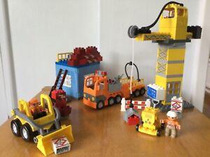 Lego Duplo 4988 Construction Site large set , crane, lorry, digger, 3 figures