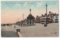 New Promenade & Fountain Cleethorpes Tram Postcard B632