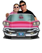 Fabulous 50's Pink Convertible Car Photo Prop Birthday Party Decorations