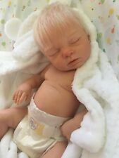 Custom made reborn newborn fake baby lifelike doll silicone vinyl full body xmas