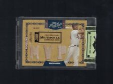 Hank Aaron Milwaukee Braves 2008 Playoff Prime Cuts Triple Bat Card 19/25