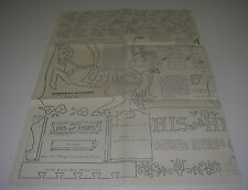 HobbyCraft 1956 Blueprint Pattern Merry-Go-Round Horse Lamp Spice Cabinet Chair.