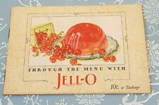 Vintage 1927 Through The Menu With Jell-O Advertizing Cookbook Desserts Booklet