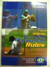 Official Australian Baseball Rules 4th ed pb 2005 c13