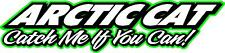 "Arctic cat Catch me if you can snowmobile sticker decal 22"" green"