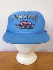 Pigeon Forge Tennessee Nissin Cap Blue Mesh Trucker Hat Adjustable Snapback