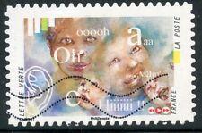 TIMBRE FRANCE  AUTOADHESIF OBLITERE N° 1243 / L'OUIE / BABIL D'ENFANTS