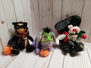 "Disney Winnie the Pooh, Eeyore and Goofy Halloween Stuffed Animals Plush toys 9"""
