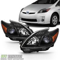 For Upgrade Black 2010-2011 Toyota Prius Halogen Headlights Headlamps Left+Right