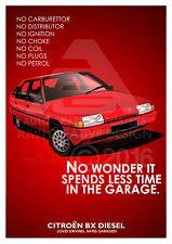 Citroen BX A3 Advert Poster
