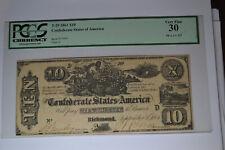 T29 $10 1861. Pcgs Very Fine 30.