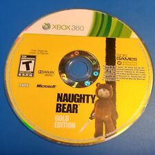 Naughty Bear -- Gold Edition (Microsoft Xbox 360, 2011) DISC ONLY 5811