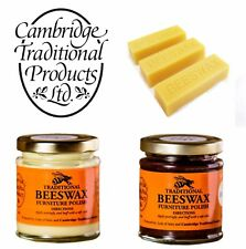 Cambridge Traditional Beeswax Wood Furniture Polish Cream Finest Bees Wax Sticks