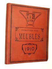 Catalogue Fournitures Meubles T&B Lyon 1910 livre ébénisterie book industrie