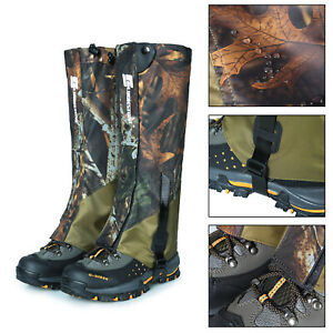 Hiking Hunting Snow Outdoor Sand Snake Waterproof Boots Cover Legging Gaiters AU