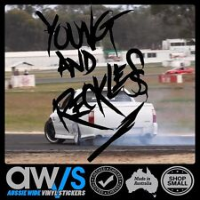 HOON STICKER DECAL YOUNG AND RECKLESS FOR BURNOUT ACA SKID DRIFT UTE CAR WINDOW